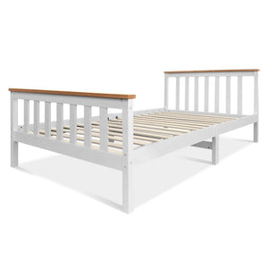King Single Wooden Bed Frame - Timber - Factory To Home - Furniture