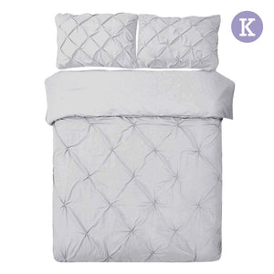 King Size Quilt Cover Set - Grey - Factory To Home - Home & Garden