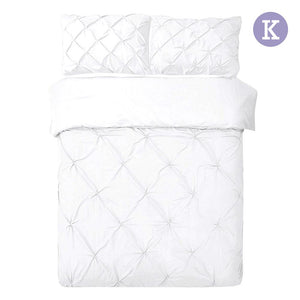 King Size Quilt Cover Set - White - Factory To Home - Home & Garden