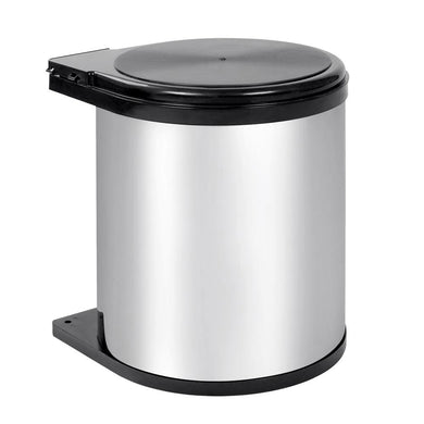 Kitchen Pull Out Stainless Steel Bin - Silver - Factory To Home - Home & Garden