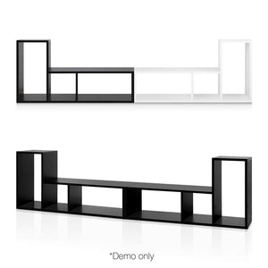 L Shaped Display Shelf - Black - Factory To Home - Furniture