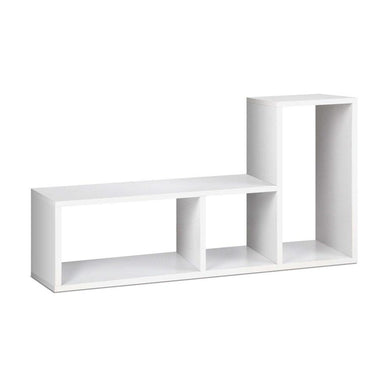 L Shaped Display Shelf - White - Factory To Home - Furniture