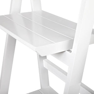 Ladder Storage Display Shelf - White - Factory To Home - Furniture