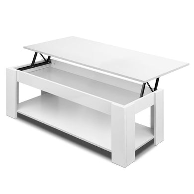 Lift Up Top Mechanical Coffee Table - White - Factory To Home - Furniture