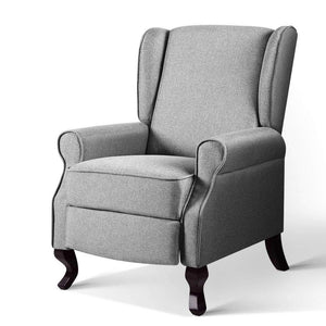 Luxury Lounge Armchair - Fabric Grey - Factory To Home - Furniture