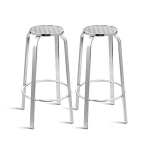 Outdoor Bar Stools - Aluminum x 2 - Factory To Home - Furniture