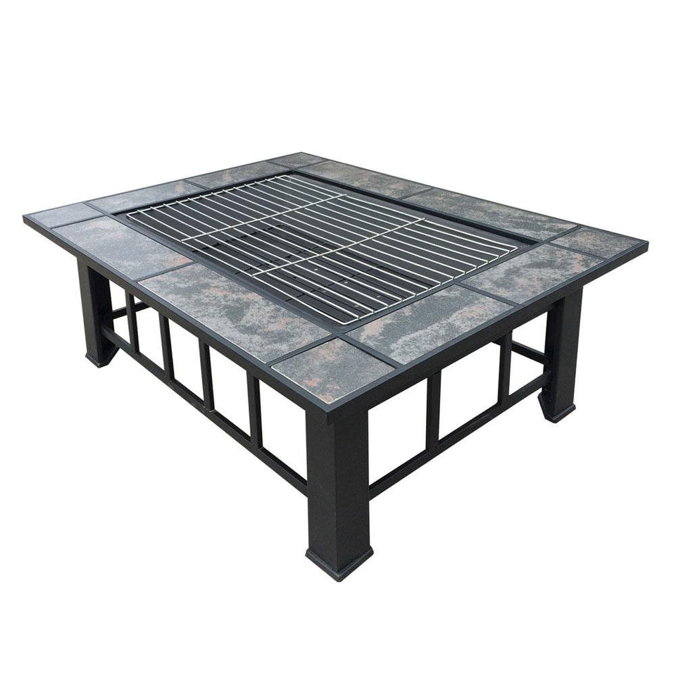 Outdoor Fire Pit & BBQ Table Grill - Factory To Home - Home & Garden