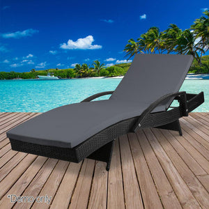 Outdoor Sun Lounge - Black - Factory To Home - Furniture
