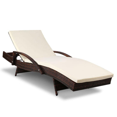 Outdoor Sun Lounge - Brown - Factory To Home - Furniture