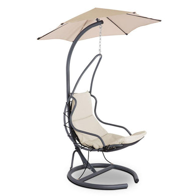Outdoor Swing Hammock Chair w/ Cushion - Beige - Factory To Home - Furniture