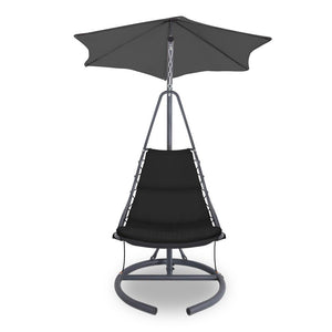 Outdoor Swing Hammock Chair w/ Cushion - Black - Factory To Home - Furniture