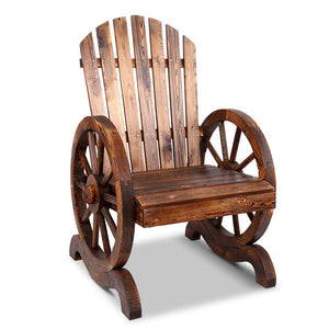 Outdoor Wooden Wagon Chair - Factory To Home - Outdoor Decor