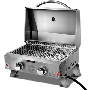 Portable 2 Burner Gas BBQ - Factory To Home - Home & Garden