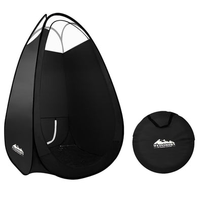 Portable Pop Up Tanning Tent - Black - Factory To Home - Health & Beauty