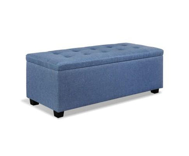 Premium Storage Ottoman - Blue - Factory To Home - Furniture