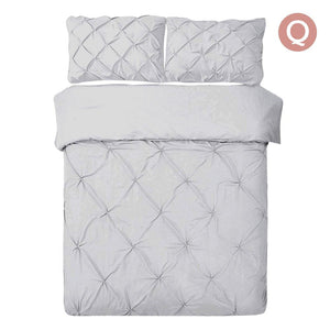 Queen Size Quilt Cover Set - Grey - Factory To Home - Home & Garden