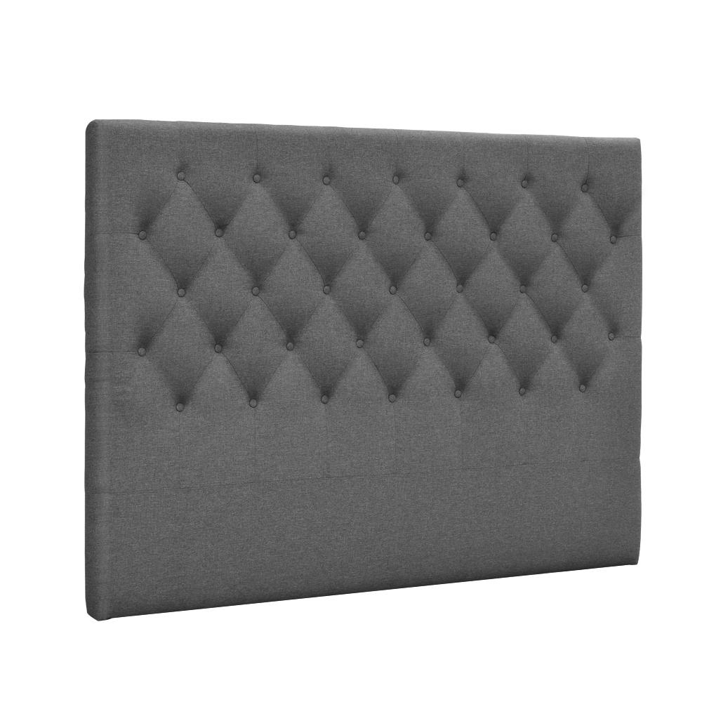 Queen Size Upholstered Fabric Head Board - Grey - Factory To Home - Furniture