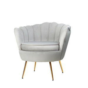 Retro Single Armchair - Velvet Grey - Factory To Home - Furniture