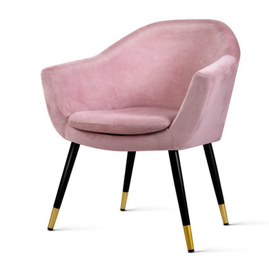 Retro Single Armchair - Velvet Pink Seat - Factory To Home - Furniture