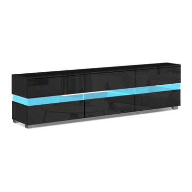 RGB LED Gloss Entertainment Unit - Black - Factory To Home - Furniture