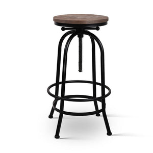 Rustic Industrial Round Bar Stool - Factory To Home - Furniture