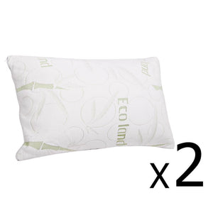 Set of 2 Bamboo Pillow with Memory Foam - Factory To Home - Home & Garden