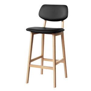 Set of 2 PU Leather Ramsey Bar Stools - Black - Factory To Home - Furniture