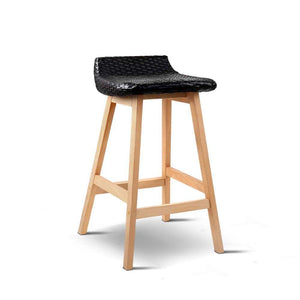 Set of 2 Weva Bar Stool - Black - Factory To Home - Furniture