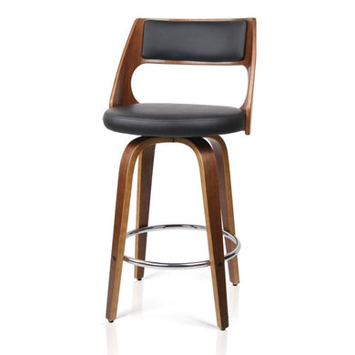 Set of 2 Wooden Bar Stools - Black - Factory To Home - Furniture
