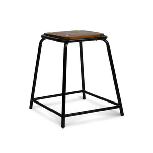 Set of 4 Pine Wood Bar Stools - Black - Factory To Home - Furniture