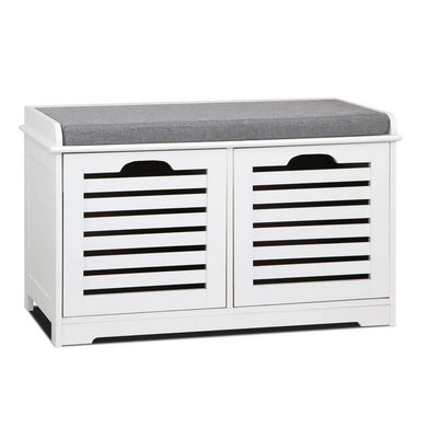 Shoe Bench with Drawers - White & Grey - Factory To Home - Furniture