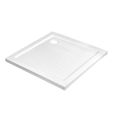 Shower Base Bathroom Tray Acrylic ABS Square 800x800mm White - Factory To Home - Home & Garden