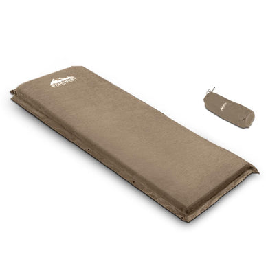 Single Size Joinable Self Inflating Mattress 10CM Thick - Coffee - Factory To Home - Outdoor