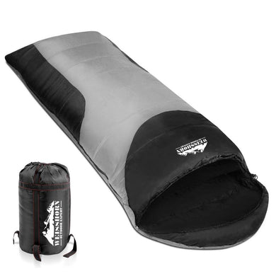 Single Thermal Sleeping Bags - Grey & Black - Factory To Home - Outdoor