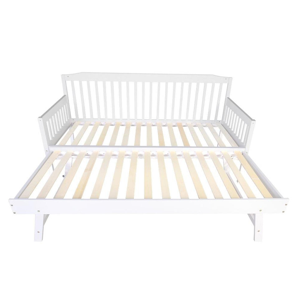 Single Wooden Trundle Bed Frame - Timber - Factory To Home - Furniture