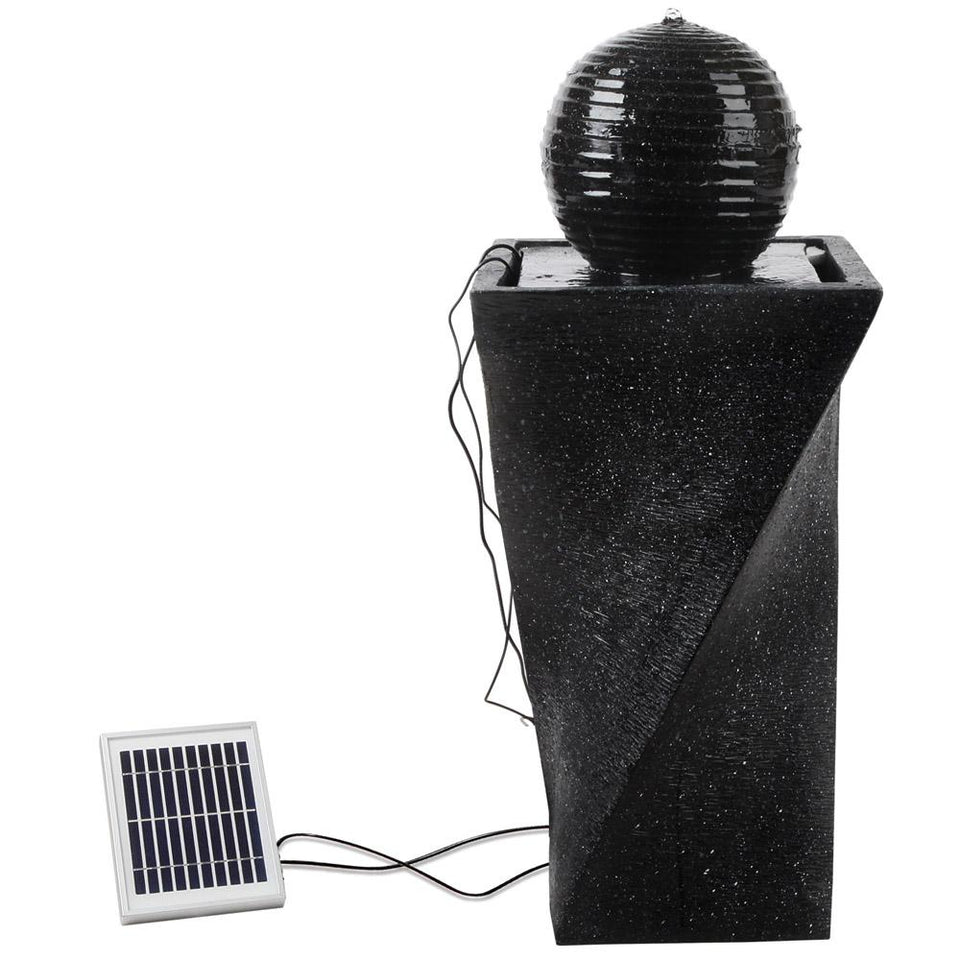 Solar Powered Water Fountain with Lights - Twist Design - Factory To Home - Home & Garden
