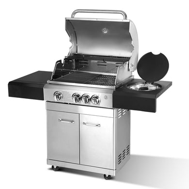 Stainless Steel 4 Burner Gas BBQ - Factory To Home - Home & Garden