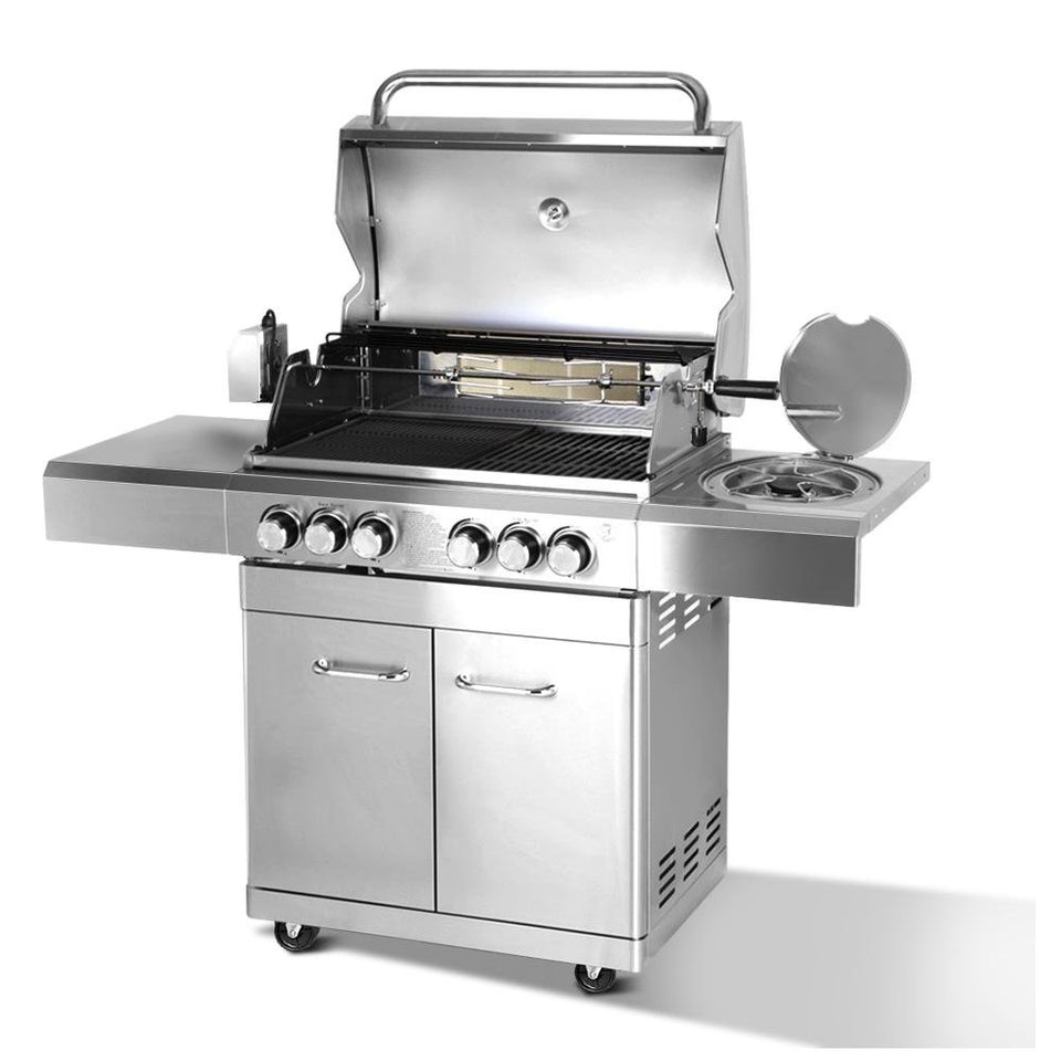 Stainless Steel 6 Burner Gas BBQ - Factory To Home - Home & Garden