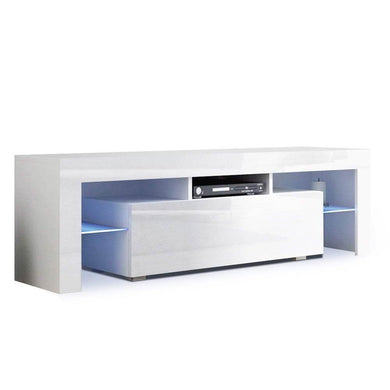Tempered Glass TV & Entertainment Unit with LED - Factory To Home - Furniture