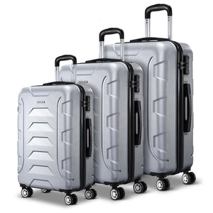 TSA 3PCS Carry On Luggage Sets Lightweight - Silver - Factory To Home - Home & Garden