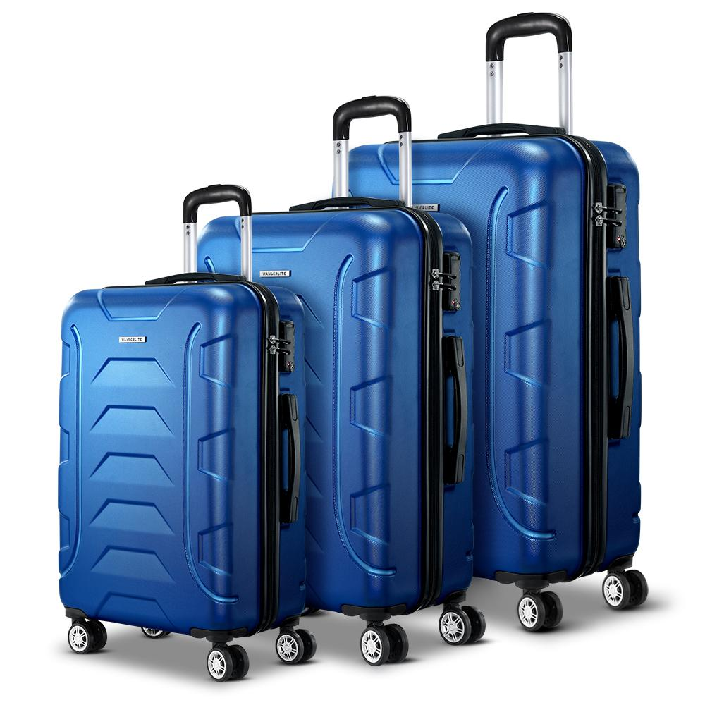 TSA 3PCS Carry On Luggage Sets Suitcase Lightweight - Blue - Factory To Home - Home & Garden