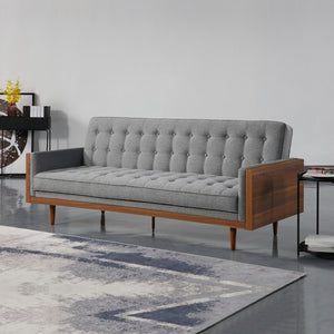 Tulip 3 Seater Sofa Bed Grey - Factory To Home - Furniture