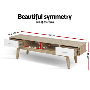 TV Stand Entertainment Unit Scandinavian Oak - Factory To Home - Furniture