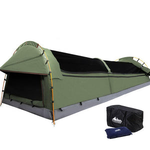 Weisshorn King Single Swag Camping Swag Canvas Tent - Celadon - Factory To Home - Outdoor