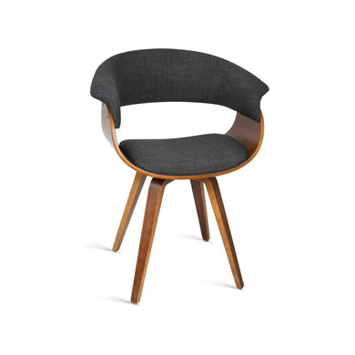 Wood and Fabric Dining Chair - Charcoal - Factory To Home - Furniture