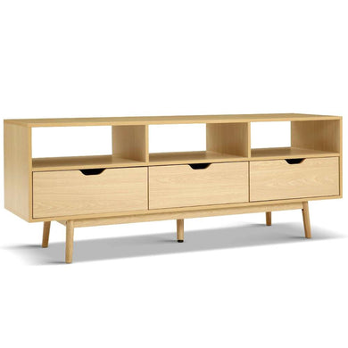 Wooden Scandinavian Entertainment Unit - Natural - Factory To Home - Furniture