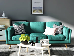 York Sofa 3 Seater Teal - Factory To Home - Furniture