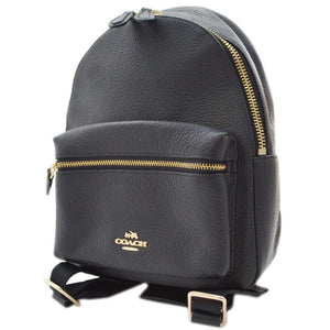 Coach Charlie Pebble Leather Backpack.