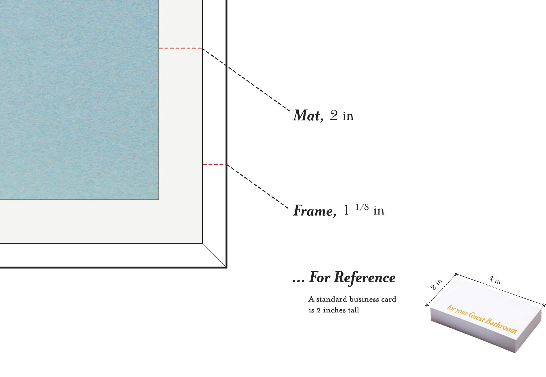 Mat and Frame Dimensions – For Your Guest Bathroom