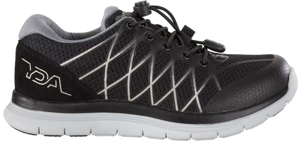 YDA Mens Trainer - Black/Silver